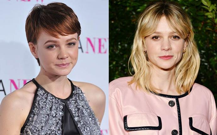 "**Carey Mulligan** <br><br> Mulligan's 2009 pixie cut might have suited her perfectly, but it wasn't exactly her choice to get one. Speaking to *ELLE U.K.*, Mulligan revealed her hair was badly damaged by a drastic dye job. ""I hate my hair,"" she explained. ""After *An Education*, I had a small part in Michael Mann's film *Public Enemies*, and he wanted me to dye it white blonde, and it wrecked my hair. Literally, ruined it. It was falling apart, fried. So I had to cut it off. I cried."""