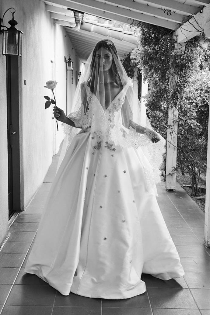 "**Nicole Trunfio**<br><br>  Australian supermodel Nicole Trunfio wearing a corseted Steven Khalil gown at her Coachella wedding to Gary Clark Jr. in 2016.<br><br>  *Image via [nicoletrunfio.com](https://www.nictrunfio.com/blog/2018/1/25/wedding-bells|target=""_blank""|rel=""nofollow"")*"