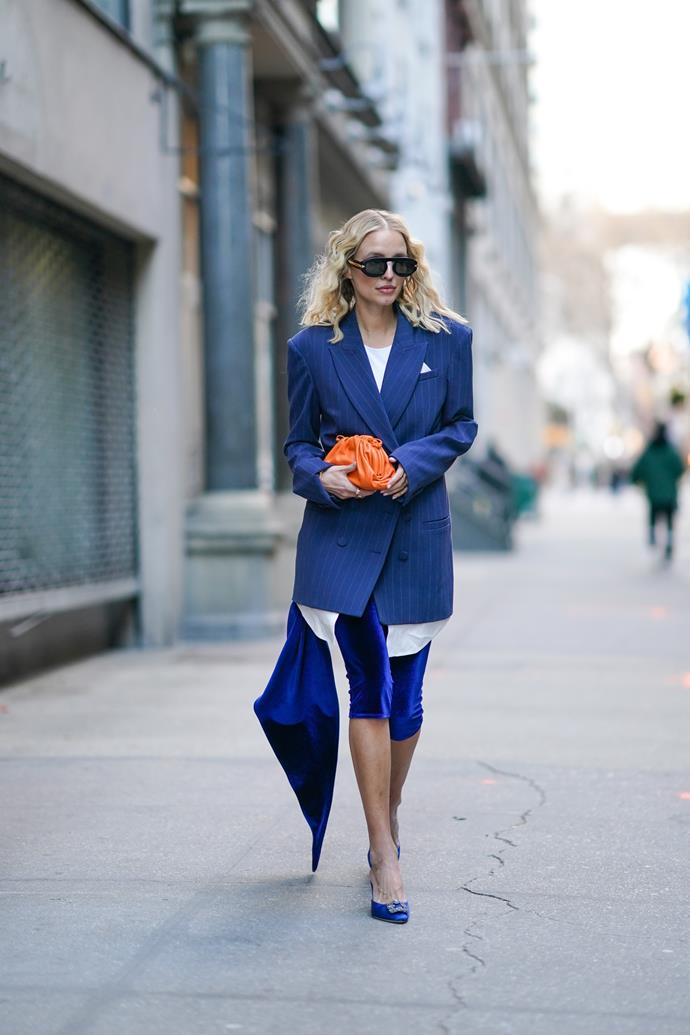 Leonie Hanne at New York Fashion Week Fall/Winter 2020-2021.