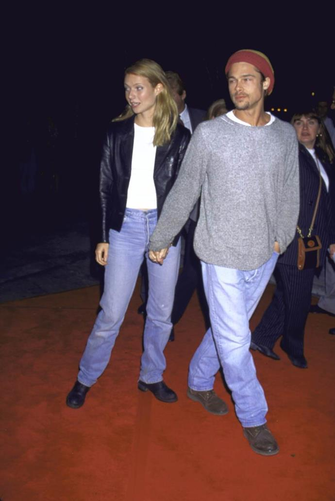 Gwyneth Paltrow and Brad Pitt in 1995.