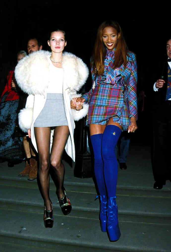 Kate Moss and Naomi Campbell.
