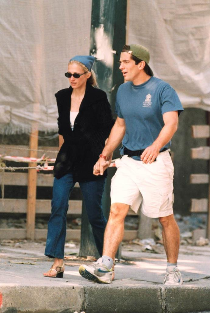 Carolyn Bessette-Kennedy and John F Kennedy Jr in 1990.