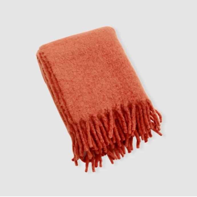 "'Alpaca Throw Rug' in Rust, $300 at [InBed](https://inbedstore.com/collections/throws/products/alpaca-throw-rug-in-rust|target=""_blank""