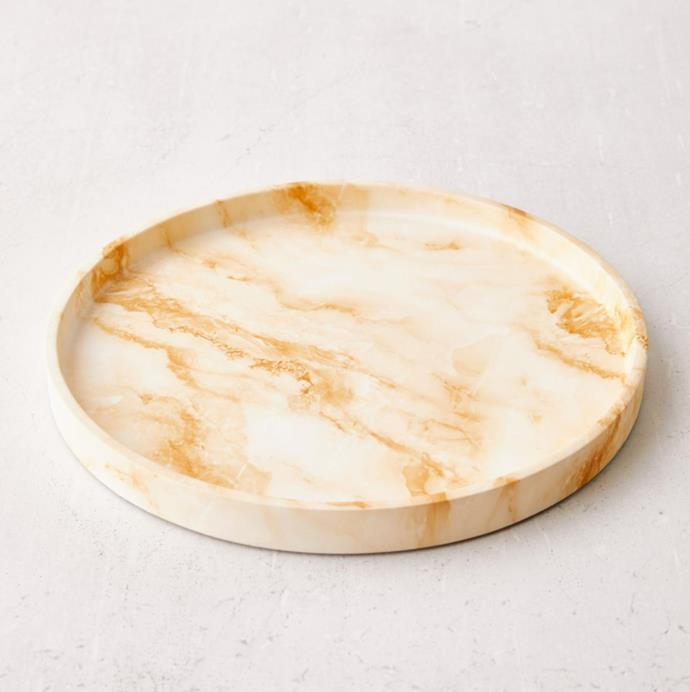 "'Alia Onyx Resin Tray', $62 at [Urban Outfitters](https://au.urbanoutfitters.com/en-au/product/alia-tray/UO-58648742-000?color=tan&size=one-size|target=""_blank""