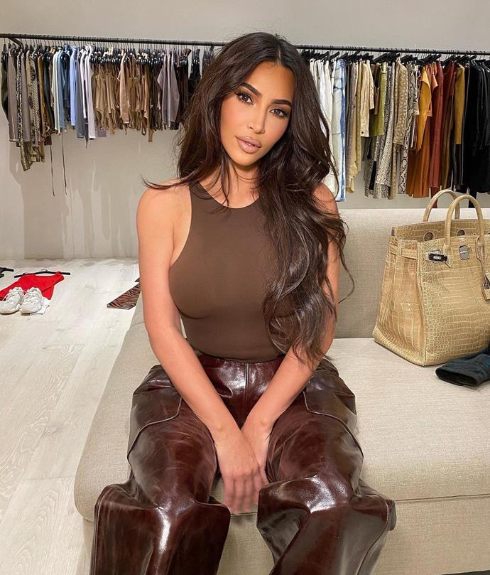 """**Kim Kardashian and Kanye West's house** <br><br> Though the rest of the home may be minimal, Kardashian West's closet is definitely not. The 39-year-old often shares pictures inside her store-like walk-in wardrobe, which houses vintage gowns, off-the-runway clothes, and [countless Hermès Birkin handbags](https://www.elle.com.au/fashion/kardashians-birkins-24165