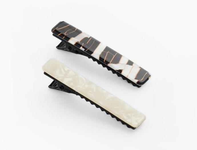 """Teresa Clips, $69 by [Valet Studio](https://valetstudio.com/collections/hair/products/teresa-clips