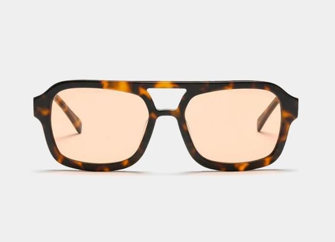 "Dixie Sunglasses in Choc Tort/Cinnamon, $180 by [Vehla Eyewear](https://vehlaeyewear.com/products/dixie-choc-tort-cinnamon target=""_blank"" rel=""nofollow"")."