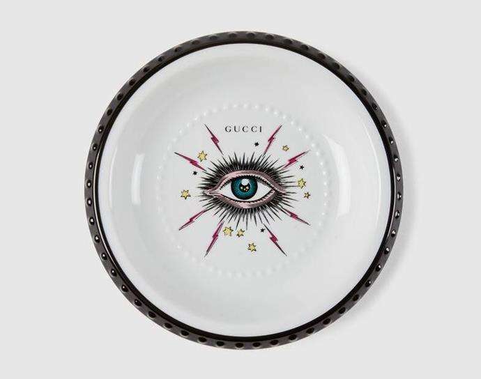 "Star Eye Trinket Tray, $355 by [Gucci](https://www.gucci.com/au/en_au/pr/decor/trinket-trays-porcelain-boxes/star-eye-trinket-tray-p-561705ZAP719108|target=""_blank""|rel=""nofollow"")."