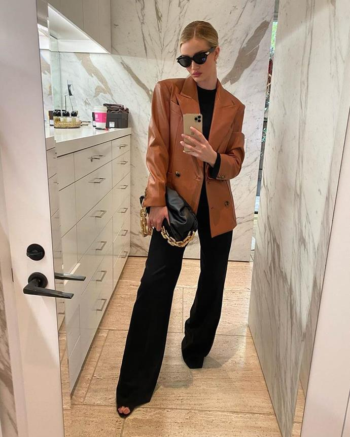 """Anyone who follows RHW on Instagram will be familiar with her walk-in closet, where she shows off her chic wardrobe choices (not to mention, the array of [Byredo fragrances](https://www.harpersbazaar.com.au/beauty/byredo-diptyque-sale-australia-20304 target=""""_blank"""") lined up behind her)."""