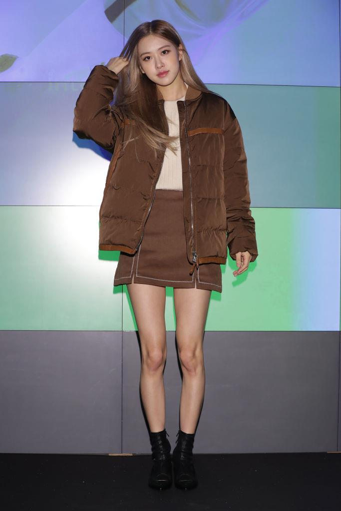 **Rosé**<br><br>  Somehow making brown puffer jackets look incredibly cool at the photocall for Tod's in November 2018 in Seoul, South Korea.