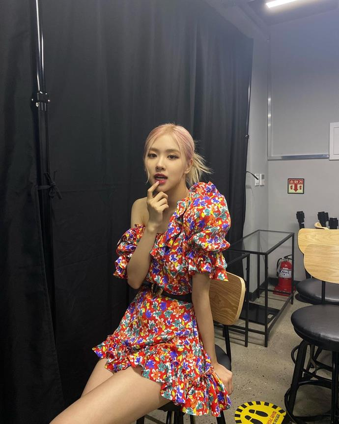 **Rosé**<br><br>  Casually debuting Saint Laurent's spring 2021 collection (before it was even showcased!) to her Instagram page in October 2020.