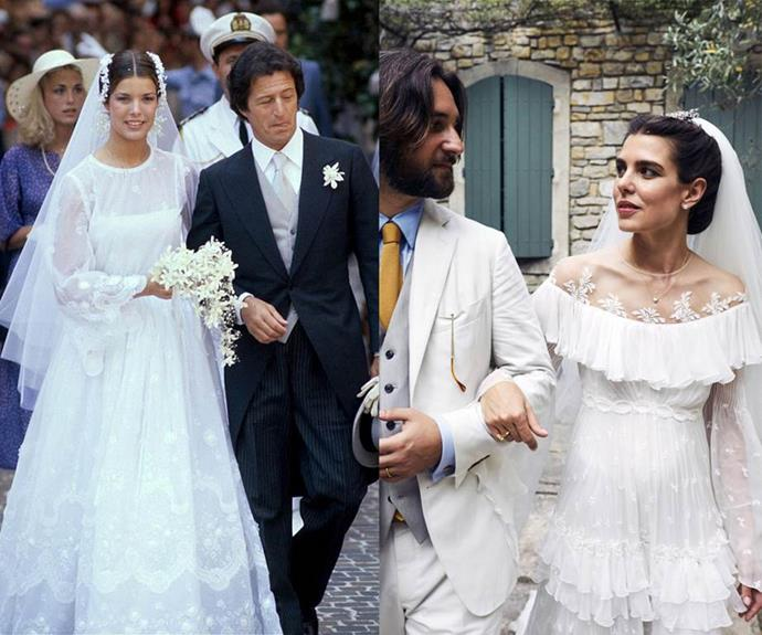 """**Princess Caroline of Hanover and Charlotte Casiraghi** <br><br> Like mother, like daughter, Monegasque royal [Charlotte Casiraghi](https://www.elle.com.au/celebrity/charlotte-casiraghi-wedding-20619
