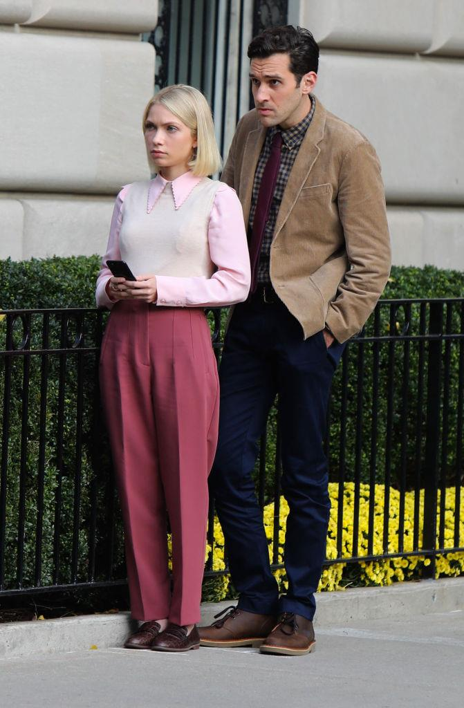 **Streetwear**<br><br>  More of Tavi's classic Park Avenue preppiness, pictured alongside Adam Chanler-Berat (no details on his character yet).
