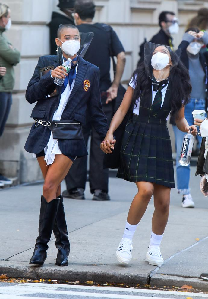**The Constance and St Jude's School Uniforms**<br><br>  If Blair's thing was headbands, we suspect Alexander's character (whose name has not yet been revealed) is going to be boots.