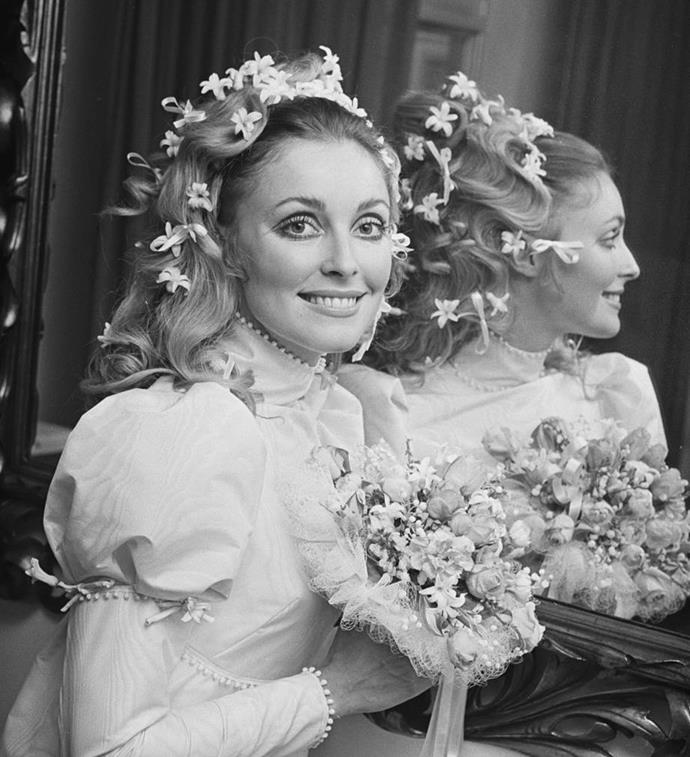 "**Sharon Tate's flower and bow-embellished bouffant**<br><br>  Iconic then, iconic now: '60s siren Sharon Tate's bold floral and ribbon-embellished bouffant became the pinnacle of bridal beauty at a time when, as her hairdresser Carrie White [said](https://www.lamag.com/culturefiles/sharon-tate-hairdresser/|target=""_blank""