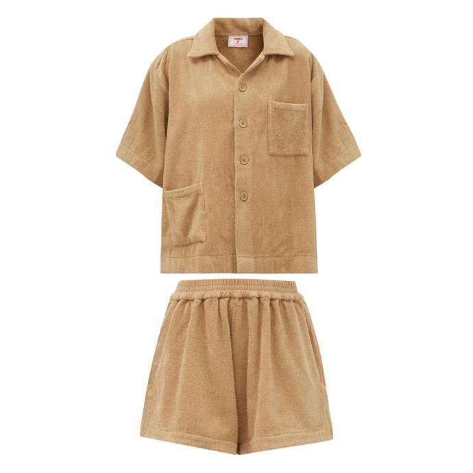 """[Terry-toweling shirt](https://www.matchesfashion.com/au/products/Terry-Boxy-cotton-terry-toweling-shirt-1377488