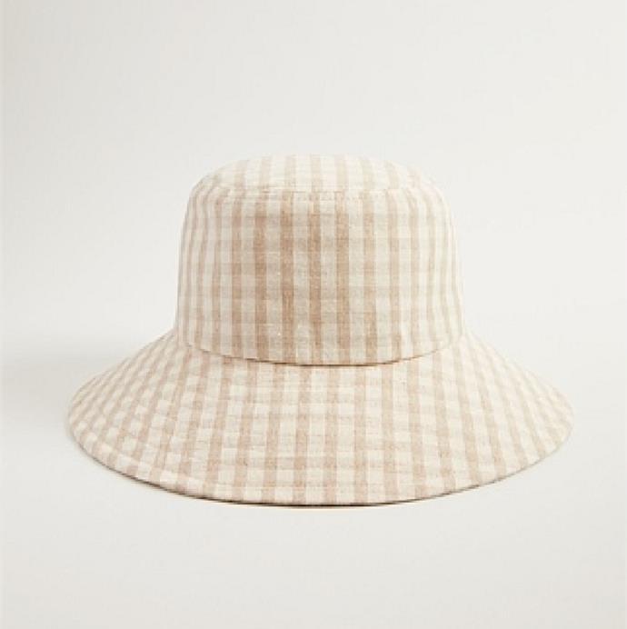 "'Freja Bucket Hat' in Oatmeal, $69.95 at [Trenery](https://www.trenery.com.au/Product/60259403-114/?colour=Oatmeal&size=No-Size&scd=true&gclid=CjwKCAiA-_L9BRBQEiwA-bm5fumUY6V0I722iLR0mLYy1NkoWPIiU4ZCrMIshmOChu3Ro77jlfYoQxoC3twQAvD_BwE&gclsrc=aw.ds target=""_blank"" rel=""nofollow"")."