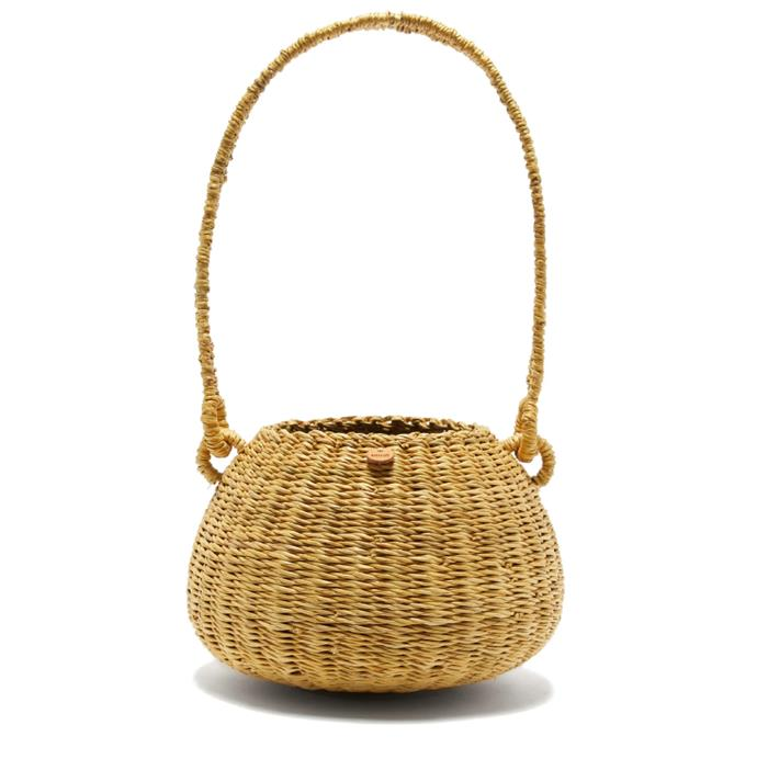 "'Oriane Straw Basket Bag' by Muuñ, $121 at [Matches Fashion](https://www.matchesfashion.com/au/products/Muu%C3%B1-Oriane-straw-basket-bag-1352797|target=""_blank""