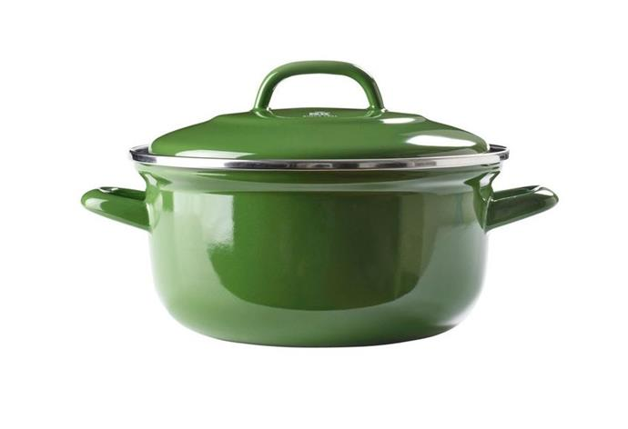 "Dutch Oven in Green by BK, $124.97 (limited time pricing) at [MYER](https://www.myer.com.au/p/bk-dutch-dutch-oven-gren-w-blue-interior-26cm|target=""_blank""