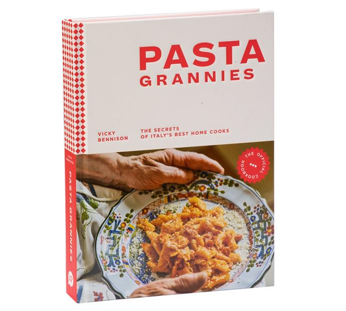 "*Pasta Grannies: The Secrets of Italy's Best Home Cook*s by Vicky Bennison, $30.95 at [Booktopia](https://www.booktopia.com.au/pasta-grannies-the-official-cookbook-vicky-bennison/book/9781784882884.html?source=pla&gclid=Cj0KCQiAwf39BRCCARIsALXWETz1N5uhEG48wdN6vbe_qap5weX5gTPn56c4UXARZ8kMX1v4vo8EBRUaAqVoEALw_wcB|target=""_blank""