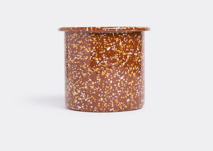 "Enamel Herb Pot in Sprinkle Brown, $44 by [HAY](https://hayshop.com.au/collections/kitchen-market/products/enamel-herb-pot-sprinkle-brown|target=""_blank""