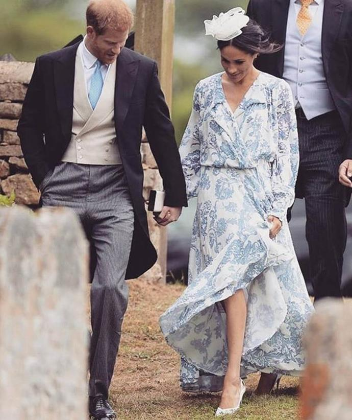 "***Outfits must always be tailored*** <br><br> The Duchess of Sussex shocked royal fashion fans when she wore this Oscar de la Renta bohemian-inspired gown in July. Aside from dividing social media and fashion critics, the $7,000AUD dress undoubtedly strayed from royal tailoring expectations. <br><br> *Image: Instagram [@bazaaraustralia](https://www.instagram.com/p/BkH3tjPg_tj/?utm_source=ig_embed|target=""_blank""