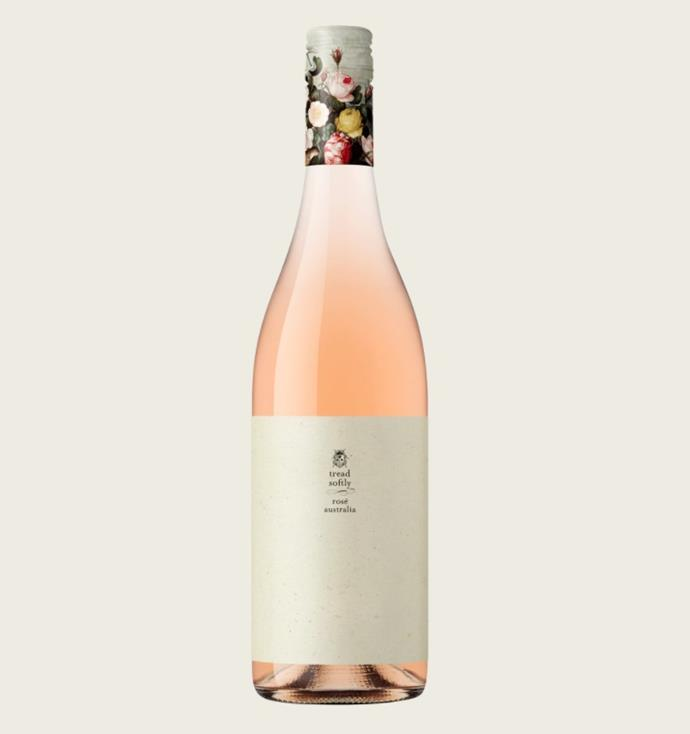 "Rosé, $18.99 by [Tread Softly](https://www.danmurphys.com.au/product/DM_119821/tread-softly-ros-|target=""_blank""