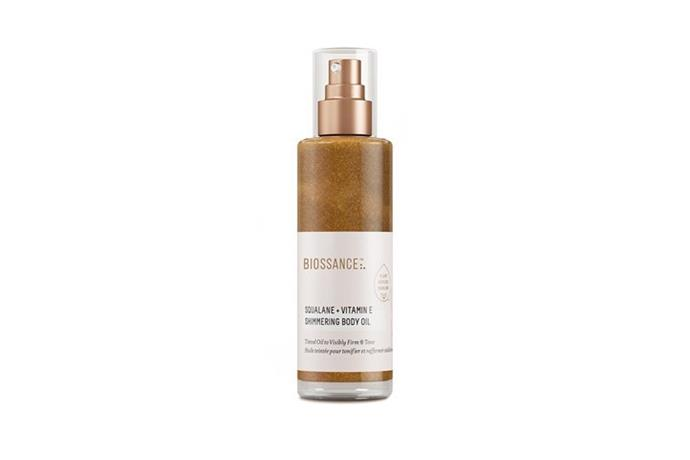 """**Biossance Squalane + Vitamin E Shimmering Body Oil** <br><br> With summer fast approaching, adding in a lightweight body oil that both hydrates and tones, while offering up an enviable faux glow is a must. This new shimmering oil is infused with Biossance's plant-derived squalene oil, vitamin E and mica.  <br><br> Squalane + Vitamin E Shimmer Body Oil by Biossance, $82 at [Sephora](https://www.sephora.com.au/products/biossance-squalane-plus-vitamin-e-shimmer-body-oil/v/120ml?dxid=CjwKCAiA2O39BRBjEiwApB2IkhOhYXsqndEkbxNweGpTQJSiKCwYKKE_Gh72_RPEhvyUCvneM-WDihoCiL8QAvD_BwE&dxgaid=CjwKCAiA2O39BRBjEiwApB2IkhOhYXsqndEkbxNweGpTQJSiKCwYKKE_Gh72_RPEhvyUCvneM-WDihoCiL8QAvD_BwE&gclid=CjwKCAiA2O39BRBjEiwApB2IkhOhYXsqndEkbxNweGpTQJSiKCwYKKE_Gh72_RPEhvyUCvneM-WDihoCiL8QAvD_BwE&aff_source=com_factory&utm_source=CommissionFactory&utm_medium=affiliate&utm_campaign=6040&cfclick=66de0de2d0fe474296fd03f9980522b3 target=""""_blank"""" rel=""""nofollow"""")."""