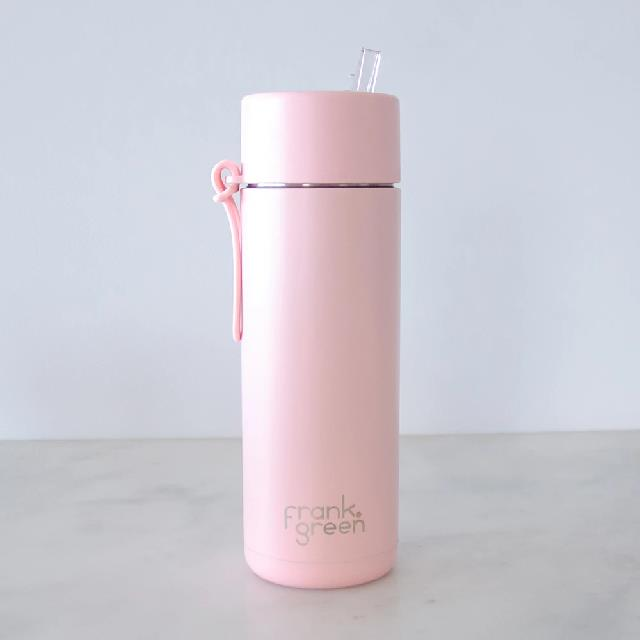 "Large Ceramic Reusable Bottle, $59.95 at [Frank Green](https://frankgreen.com.au/collections/reusable-bottles?t=stainless-steel-reusable-bottle&s=stainless-steel-reusable-bottle-34oz-straw-lid&base=khaki&lid=khaki&strap=khaki&straw=khaki&gclid=Cj0KCQiAzZL-BRDnARIsAPCJs71GZ7djvfFLA4ZNIDRko1niMGnh_lx0xuSo4jk_dbHGH0U7TnQs4jYaAjCvEALw_wcB|target=""_blank""|rel=""nofollow"")."