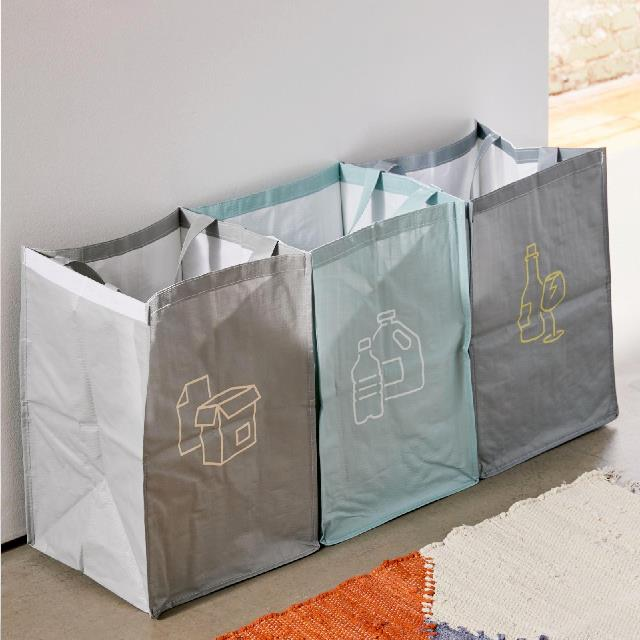 "Recycling Station Bag Set, $32 at [Urban Outfitters](https://au.urbanoutfitters.com/en-au/product/recycling-station-bag-set/UO-58569211-000?color=green-multi&size=one-size|target=""_blank""