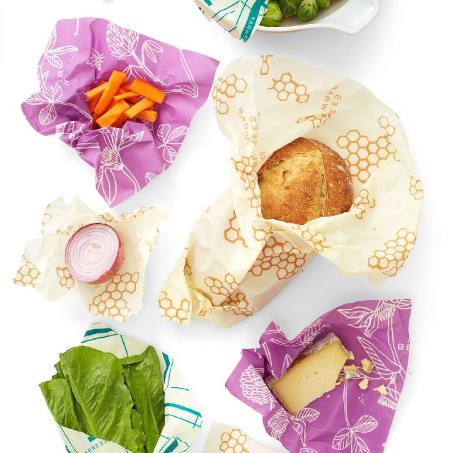 "Bee's Wrap Variety Food Wrap 7-Pack, $66 at [Urban Outfitters](https://au.urbanoutfitters.com/en-au/product/bees-wrap-variety-food-wrap-7-pack/UO-58314246-000?color=multi&size=one-size|target=""_blank""
