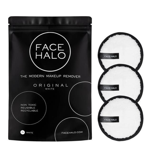"Original Makeup Remover Pack of 3, $21 at [Face Halo](https://www.facehalo.com.au/collections/shop/products/face-halo-pack-of-3|target=""_blank""
