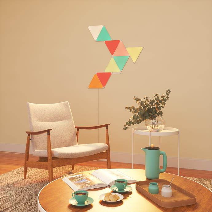 """**Nanoleaf Shapes Triangles Starter Kit, $199.99 from [Kogan](https://go.skimresources.com?id=105419X1569491&xs=1&url=https%3A%2F%2Fwww.kogan.com%2Fau%2Fbuy%2Fnanoleaf-shapes-triangles-starter-kit-4-pack-nanoleaf%2F%3Futm_source%3Dgoogle%26utm_medium%3Dproduct_listing_ads%26gclid%3DCj0KCQiAzZL-BRDnARIsAPCJs72URrmvnJNA3Aq0tBKppYybWICtoIZ9PQ0m_V9YR9tuE0hsafLV4eMaAiRgEALw_wcB