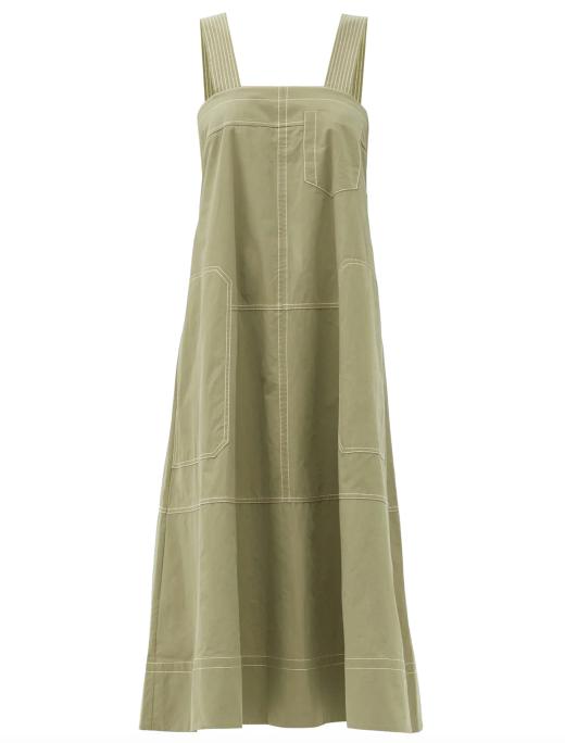 "May Cotton Dress by Lee Mathews, $459 at [MatchesFashion](https://www.matchesfashion.com/au/products/1397451?country=AUS&rffrid=sem.Google.n=g.cid=919463170.aid=47697083484.k=.mty=.d=c.adp=.cr=218761636555.tid=aud-430673859575:pla-294680686006.pid=1397451000002.ppid=294680686006.lpm=9071834.adty=pla.prl=en&utm_content=1397451000002&utm_term=294680686006.[value].&gclid=Cj0KCQiAk53-BRD0ARIsAJuNhpv7xSQXuh8-Wq0AN5W7pkb7s5FzeC3jzrGO3ZsEjYVSZXpIoi9F0fcaAkI0EALw_wcB&gclsrc=aw.ds|target=""_blank""|rel=""nofollow"")."
