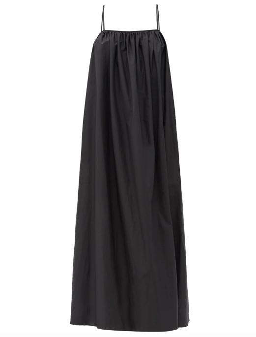 "Voluminous Sundress, $540 by [Matteau](https://matteau-store.com/collections/apparel/products/the-voluminous-sundress|target=""_blank""|rel=""nofollow"")."