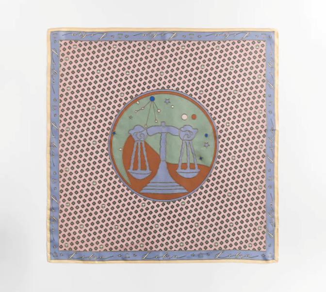 "Astrology Silk Scarf, $45.95 by [Zara](https://www.zara.com/au/en/libra-silk-scarf-p08377211.html?v1=78536896&v2=1277390|target=""_blank""|rel=""nofollow"")."