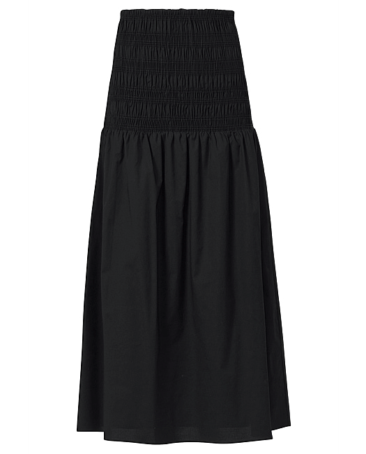 """Shirred Skirt, $129.95 by [Witchery](https://www.witchery.com.au/shirred-cotton-skirt-60259799