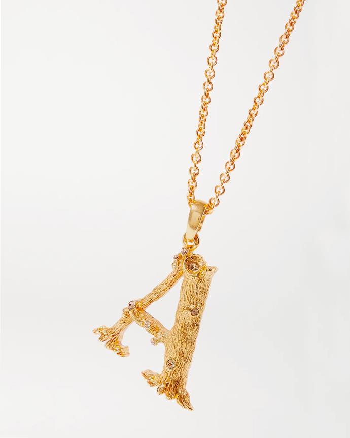 "**For The Custom Queen** <br><br> *'Letter gold-plated crystal necklace' by Oscar de la Renta, $352.56 at [Net-A-Porter](https://www.net-a-porter.com/en-au/shop/product/oscar-de-la-renta/letter-gold-plated-crystal-necklace/1174958|target=""_blank""|rel=""nofollow"").*"