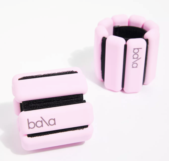 """Wrist and Ankle Bangle Weights by Bala, $67 at [Free People](https://www.freepeople.com/shop/bala-bangles-1-lb-weights2/?color=066&countryCode=au&currency=AUD&gclid=Cj0KCQiAk53-BRD0ARIsAJuNhpugKoL-y0IF5lNZFN-vabY_Kc5x0yzVvKAaaNQHpmTbq-gtRTSYSwQaAlTvEALw_wcB&gclsrc=aw.ds&size=One%20Size&type=REGULAR&quantity=1