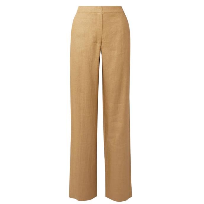 "Twill Straight-leg Pants by Theory, $169 at [The Outnet](https://www.theoutnet.com/en-au/shop/product/theory/pants/straight-leg-pants/twill-straight-leg-pants/17957409492619476?gclid=Cj0KCQiAtqL-BRC0ARIsAF4K3WFUgYnv8bt9g8KVIjzkJV12XXsdagUAXt1yiua8j0Kpz5wYkkYqDRkaAoGEEALw_wcB&gclsrc=aw.ds|target=""_blank""|rel=""nofollow"")."