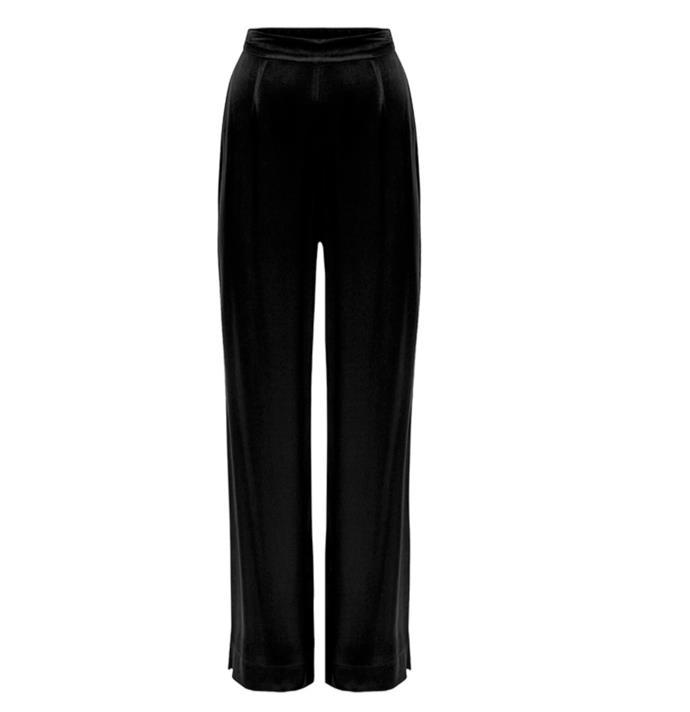 "'Mary' Pant, $124.50 by [Hansen & Gretel](https://hansenandgretel.com/shop/clothing/bottoms/mary-pant-black-2/|target=""_blank""|rel=""nofollow"")."