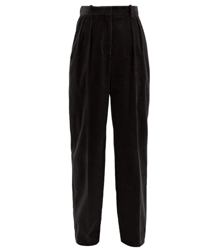 """Chandler Cotton Corduroy Trousers by The Row, $1,209 at [MatchesFashion](https://www.matchesfashion.com/au/products/The-Row-Chandler-cotton-corduroy-wide-leg-trousers-1381141