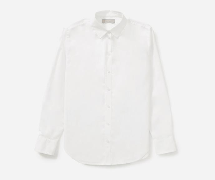 """The Silky Cotton Relaxed Shirt, $86 by [Everlane](https://www.everlane.com/products/womens-silky-cttn-relaxed-shirt-offwhite?collection=womens-tops