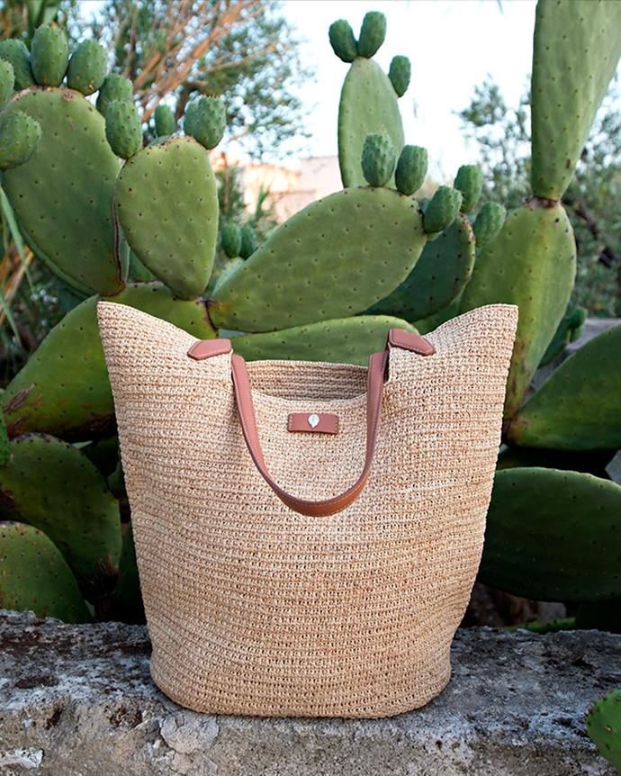 "**Helen Kaminski** <br><br> A chic take on a classic beachside accessory. <br><br> [*Shop them here.*](https://www.helenkaminski.com.au/collections/resort-21-bags target=""_blank"" rel=""nofollow"")"