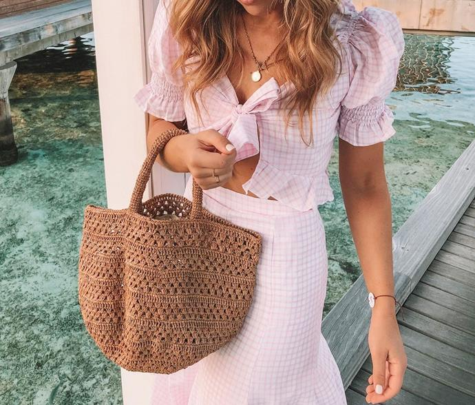 """**Sans Arcidet** <br><br> Carefree, French-girl woven bags big enough to fit all the essentials and then some (a baguette, perhaps?). <br><br> *[Shop them here.](https://www.theiconic.com.au/sans-arcidet-paris/ target=""""_blank"""" rel=""""nofollow"""")*"""