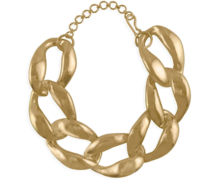 """**The Chunky Chain Necklace**<br><br>  'Chunk Chain Choker' by Misho Designs, approx. AUD $343 at [Misho Designs](https://fave.co/3mRCtjU