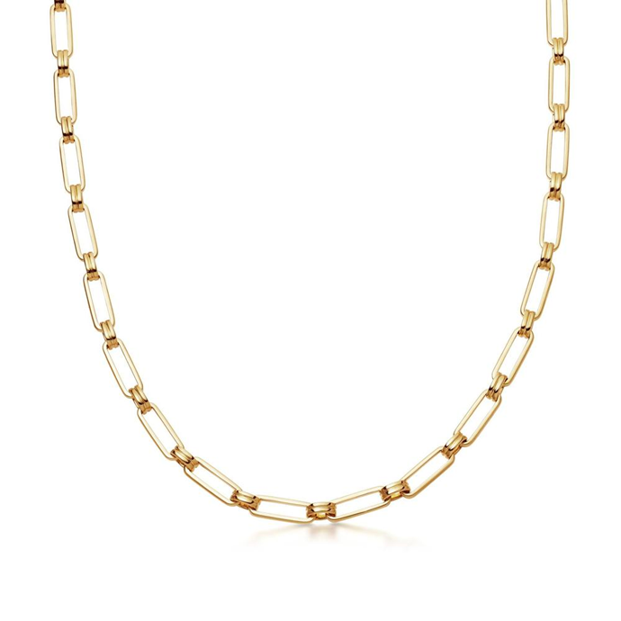 """**The Chunky Chain Necklace**<br><br>  'Aegis Chain' made from 18k gold plated on brass by Missoma, $302 at [THE ICONIC](https://fave.co/3qBPbFN