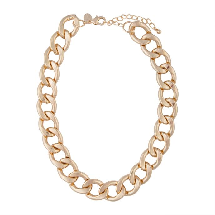 """**The Chunky Chain Necklace**<br><br>  Gold Large Chain Necklace by Lovisa, $25.99 at [Lovisa](https://fave.co/36PZcrb