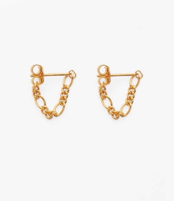 """**The Chunky Chain Earrings**<br><br>  Chain Hoops by Reliquia Collective, $139 at [THE ICONIC](https://fave.co/39MIpXP