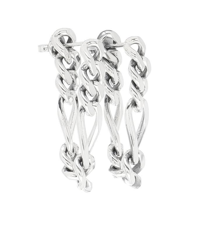 "**The Chunky Chain Earrings**<br><br>  Silver Chain Earrings by Bottega Veneta, $630 at [Mytheresa](https://fave.co/2VRMAt7|target=""_blank""|rel=""nofollow"")"